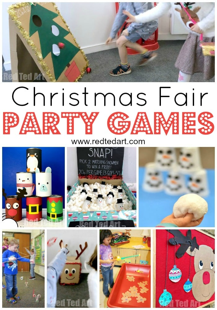 Diy Christmas Party Games Ideas For School Fairs And Home Red Ted Art Make Crafting With Kids Easy Fun