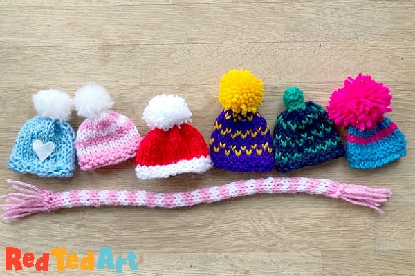 DIY Knitted Egg Cozy hats