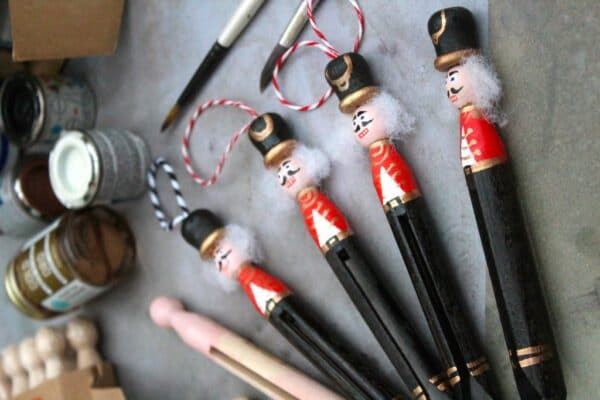 Nutcracker ornament diy