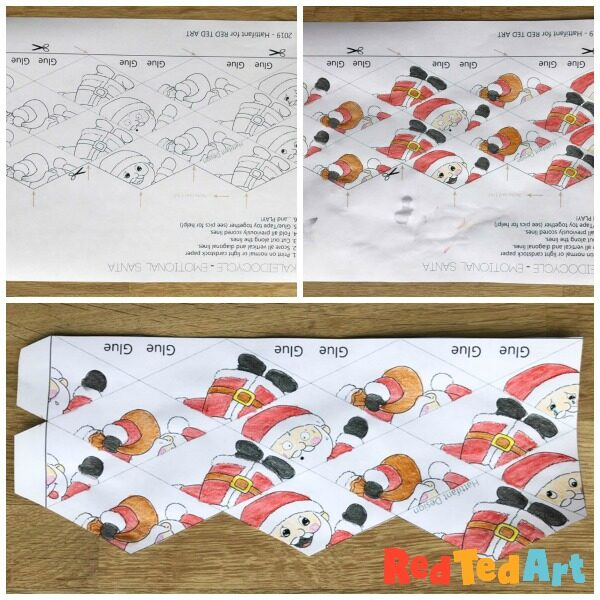 How to make a Santa Paper Toy