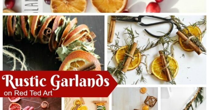 Rustic Garland ideas for Christmas