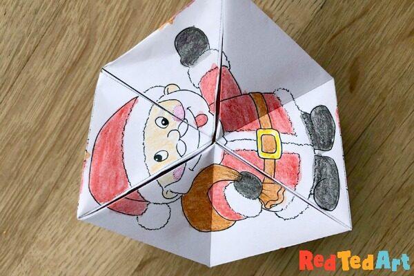 How to make a Santa Paper Kaleidoscope