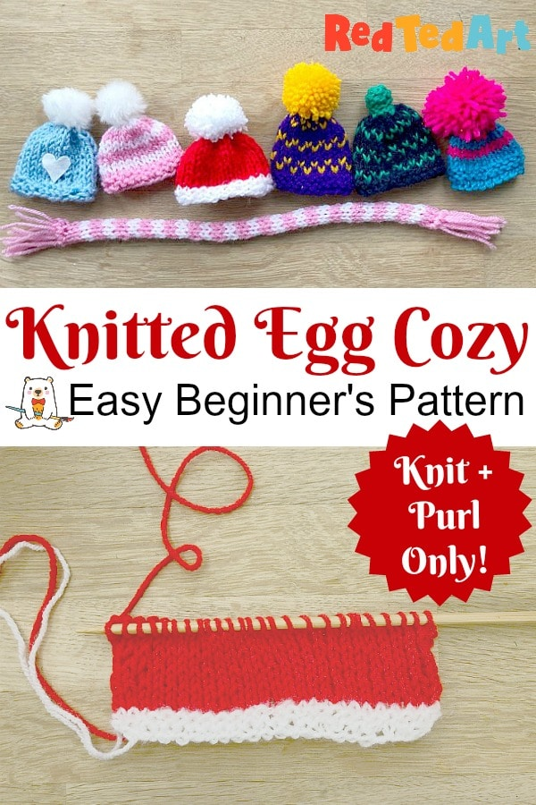 Knitted Egg Cozy hats