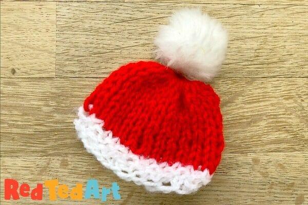 Mini Knitted Santa Hat