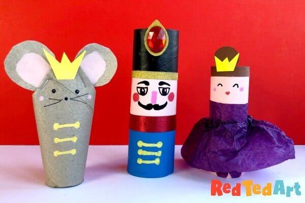 TP Roll Nutcracker Set for Christmas