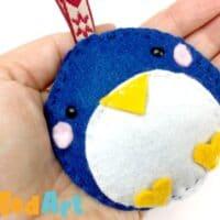 Easy Felt Penguin Ornaments