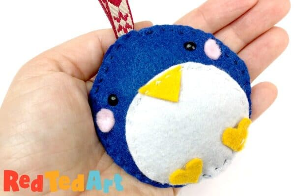 Easy Felt Penguin Ornaments