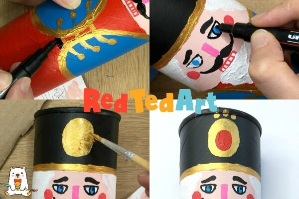 How to paint a Nutcracker Gift Box from a Pringles Can
