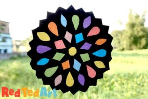 Paper Rangoli Suncatcher Craft for Diwali