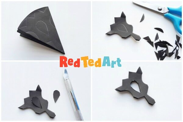 Paper Rangoli Suncatcher Craft for Diwali