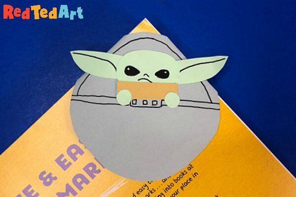 Baby Yoda Bookmark Corner Design