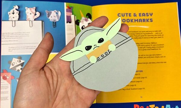 How to make a Baby Yoda Bookmark Corner