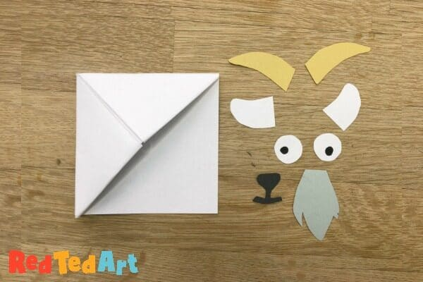 Billy goat gruff bookmark corner  - features needed to add yo your origami bookmark