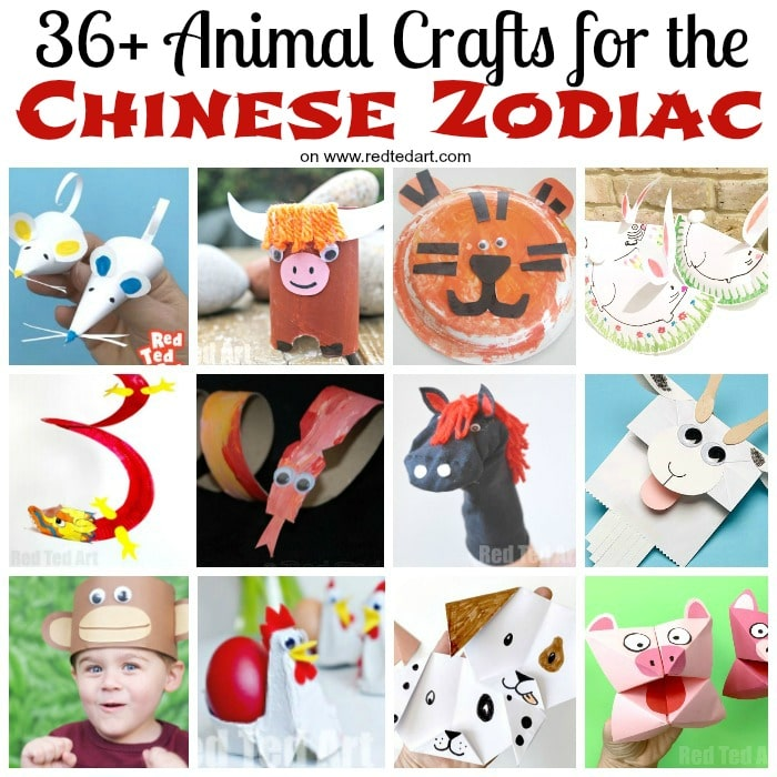 Easy Chinese Zodiac Crafts For Kids Red Ted Art Easy Animal Crafts