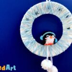 PomPom Penguin Paper Plate Wreath Craft for Kids