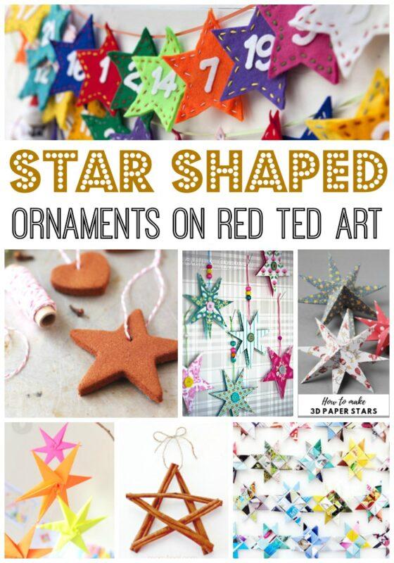 DIY Star ornaments for Christmas Trees