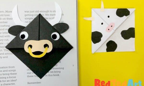 Farmyard Animal Bookmark Corner Designs