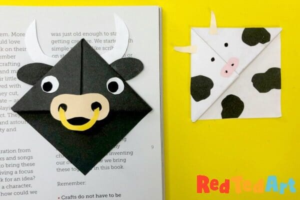 Farmyard Animal Bookmark Corner Designs
