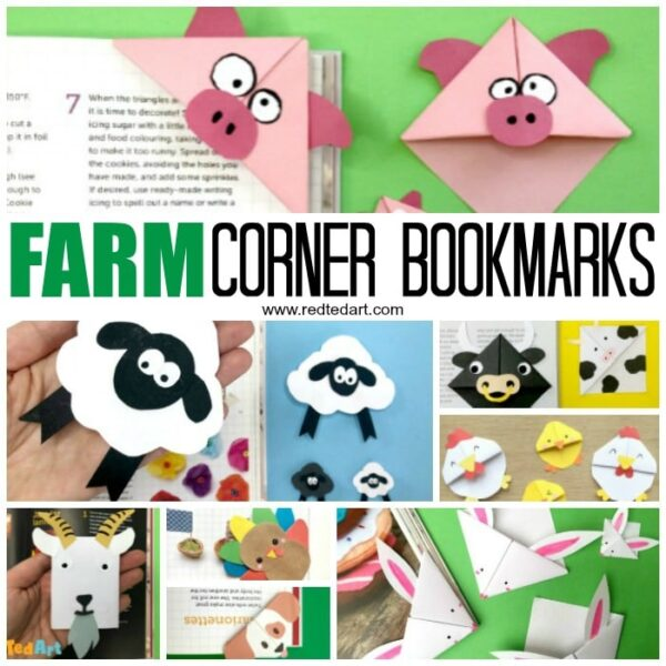 Farm Animal Corner Bookmarks - see our collection of farmyard bookmarks