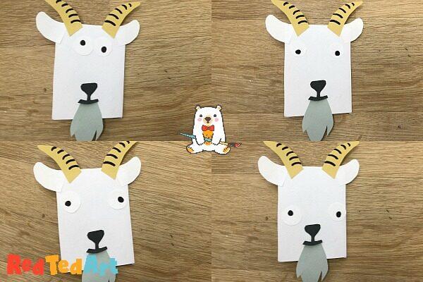 Funny Faces Goat Bookmark Corner