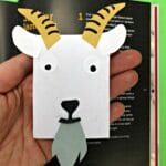 Goat Bookmark Corner step by step instructions