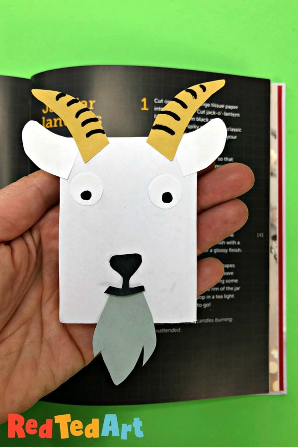 Make your own Goat Bookmark Corner - Red Ted Art - Make crafting with kids easy & fun
