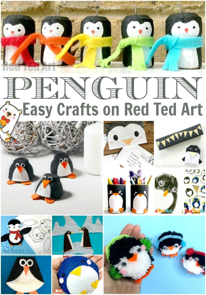 Easy Penguin Crafts for Kids - Collage of Activities