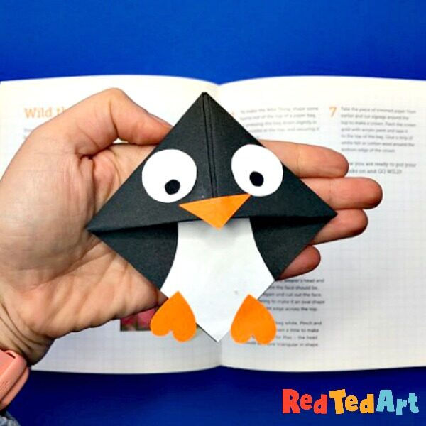 Penguin corner bookmark