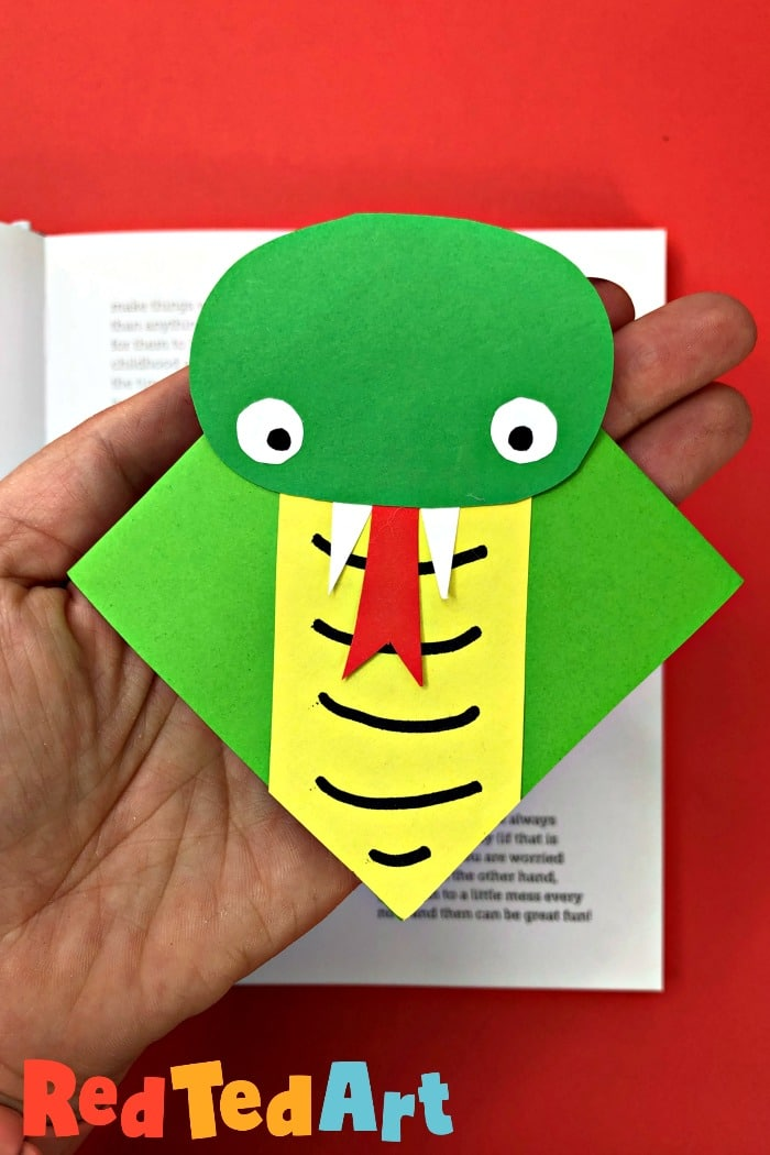 Snake Bookmark Corner Ideas for Chinese New Year and the Year of the Snake