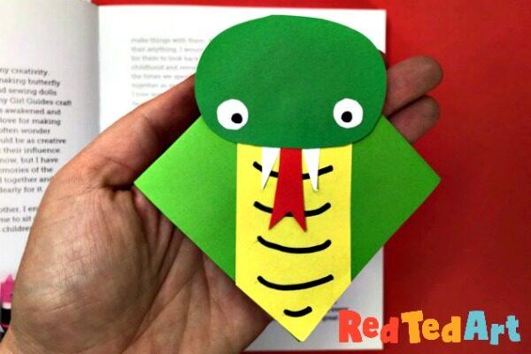 Snake Corner Bookmark Design