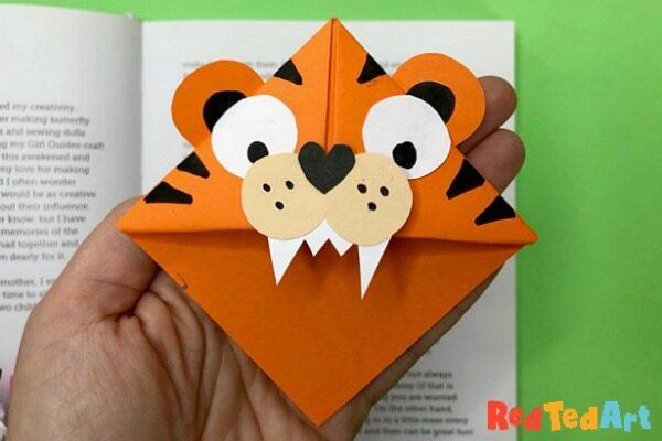 TIger Corner Bookmark Designs