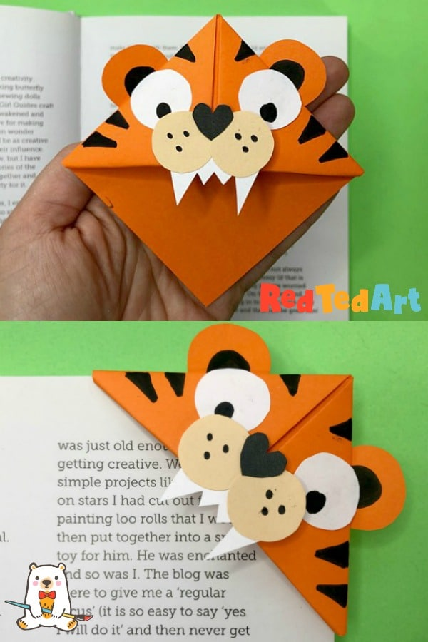 How to make an Origami Bookmark Corner - Red Ted Art - Make crafting with  kids easy & fun | 900x600