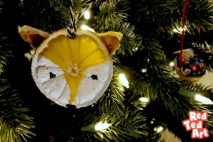 Dried Orange Slices Fox Ornaments - learn tricks to keep oranges bright
