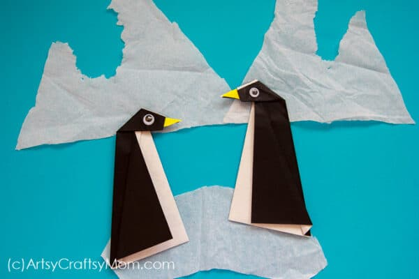 Easy origami penguin