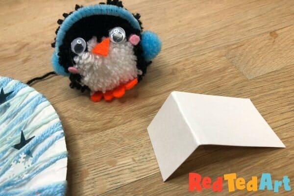Pom Pom Penguin Wreath for kids