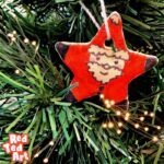 Salt Dough Santa Star Ornaments