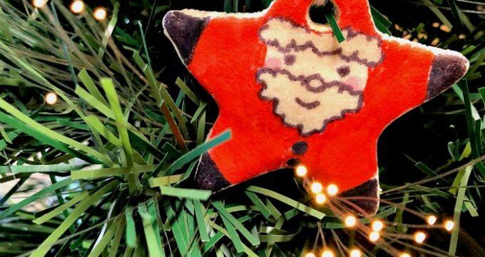 Easy Salt Dough Recipe for Santa Ornament Making