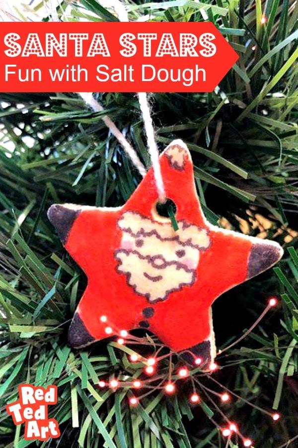 Easy Salt Dough Recipe for Santa Star Ornament Making
