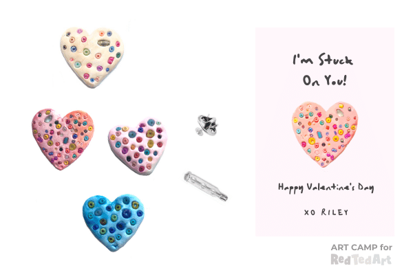 Sweet Valentine's Heart Pin or Brooch