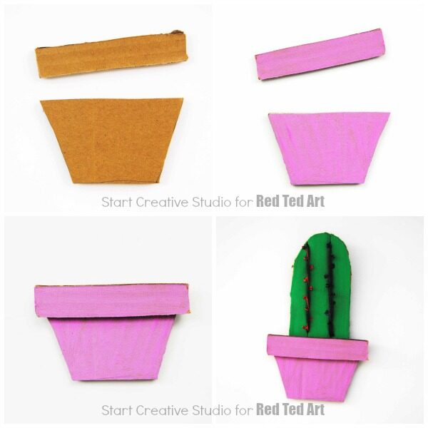 Easy Step by Step Cardboard Cactus!
