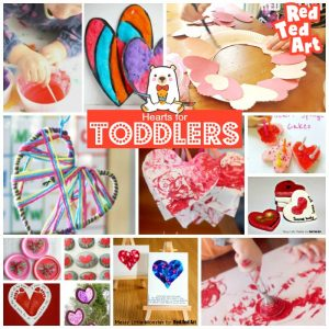 Toddler Heart Crafts to make at Valentine's Day or Mother's Day!