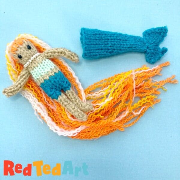 Knitting a mermaid beginners