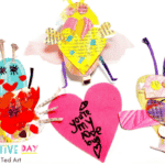 Newspaper Love Bugs for Valentines