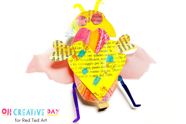 Newspaper Love Bugs - Valentines Crafts for Preschool