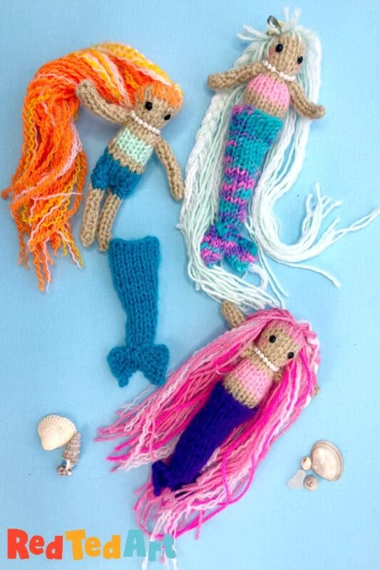 Mermaid Knitting amigurumi