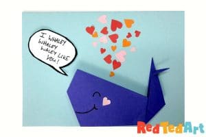 Origami Whale Card: I whaley whaley whaley Like you