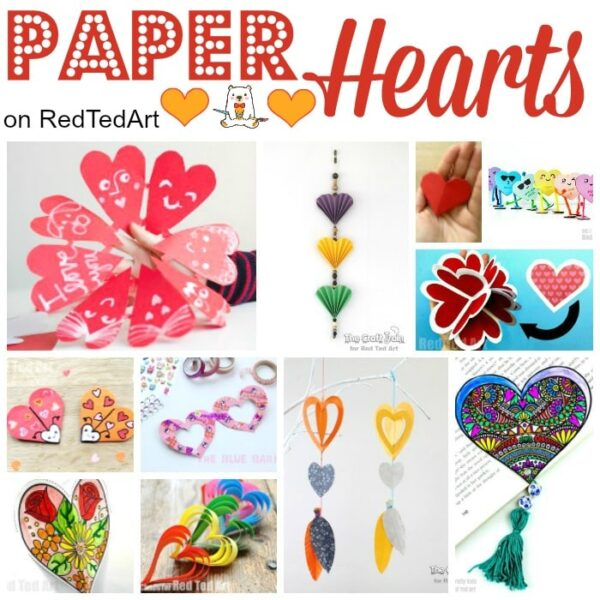 Easy Paper Heart Crafts for Valentine's Day