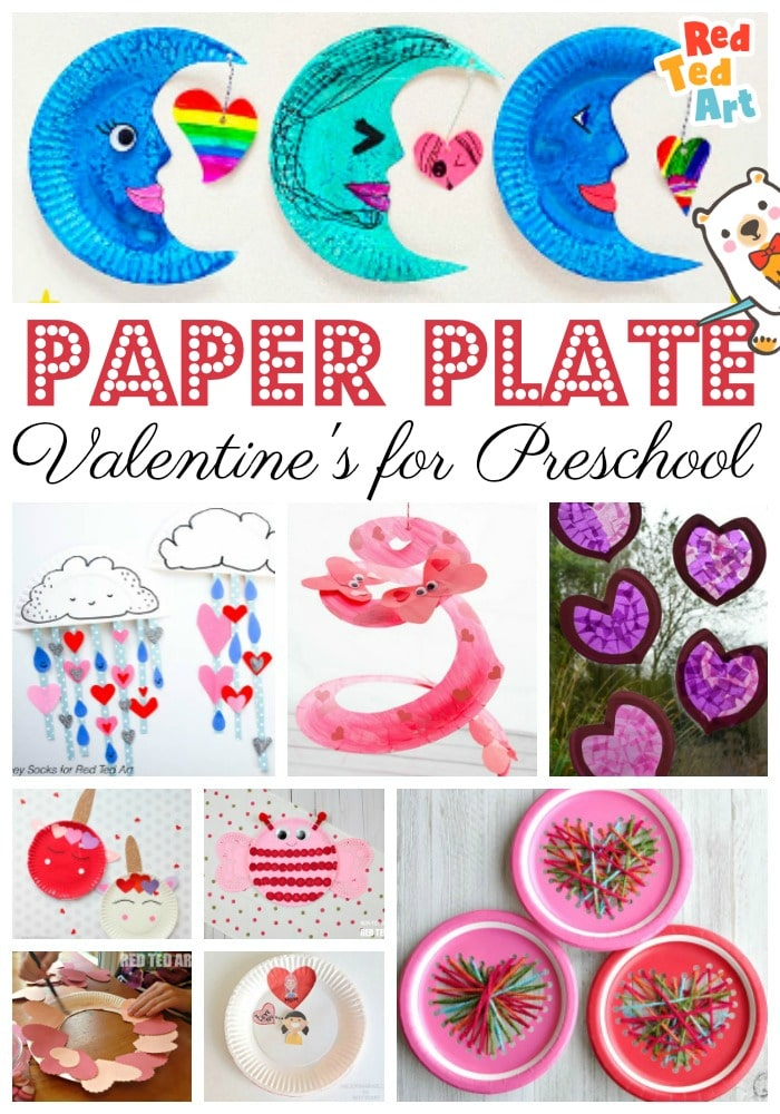 Paper Plate Valentines Crafts For Preschoolers Red Ted Art