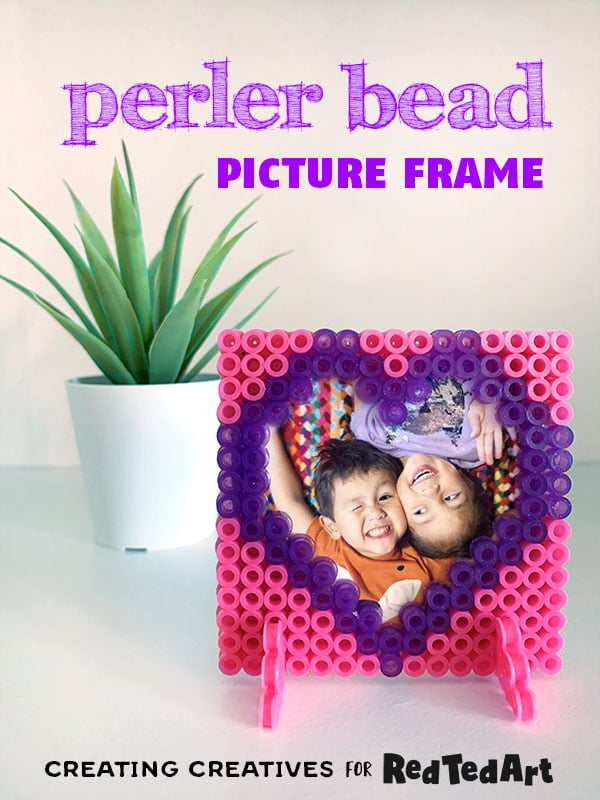 Adorable Perler Bead Frames for Valentines