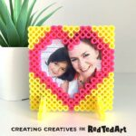 Perler Bead Picture Frame Heart for Valentines